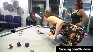 Big Booty Sara Jay & Thick Babe Nicky Ferrari Share Big Dick