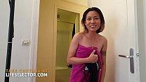 Cute Asian teen Xiaoyu Li repays you with her tight pussy