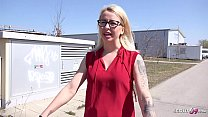 GERMAN SCOUT - DIRTY OFFICE GIRL MALINA TALK TO OUTDOOR PORN FUCK AFTER ONLINE DATING