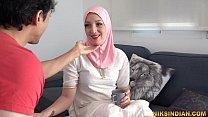 Razia Bhabhi got hooked on neighbor Suraj's fat cock and she came again to kiss