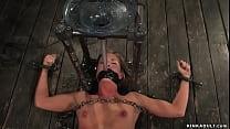 Slaves tormented on device bondage