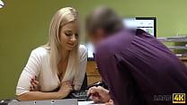 LOAN4K. Seductive girl can close debts only if she fucks loan agent
