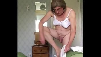 White Boots - Putting them on - Johanna Clayton