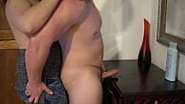 Prostate Strapon Pegging Hands Free Cum in the Living Room