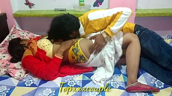 Newly desi bhabhi's ass made her cry with a heavy blow of thick cock