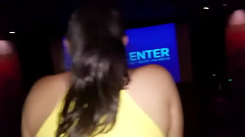 I was masturbating at the cinema and the winged woman couldn't stand it and got on top, her boyfriend had gone to the bathroom