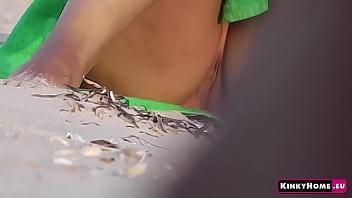 Voyeur hidden cam - Girl on a nude beach in Italy! Peeping (PART 2)