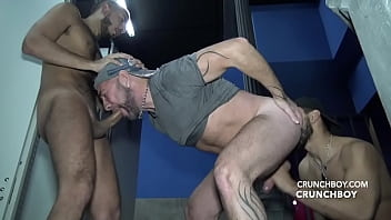 Jess ROYAN fucked bareback in glory holes BoyBerry madrid by BARBON and KALIL