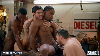 Sensual Hardcore Interracial Group Explores The Erotic Playground Each Others Cocks - Men