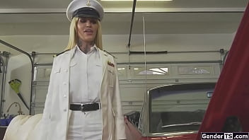 Shemale admiral Nadia Love anal reamed