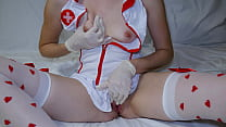 Nurse Does Not Wear Panties And Bra At Work, Masturbates After Work Wet Depraved Pussy