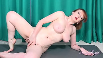 AuntJudys - Busty 56yr-old Step-Auntie Red's Big Tit Workout