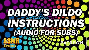 ASMR Daddy's Dildo Instructions for Sub Sluts (Audio)