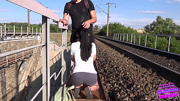 We wanted to fuck on the railroad but we were almost caught!