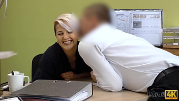 LOAN4K. Hot MILF doesnt mind having sex to fix her issues with money