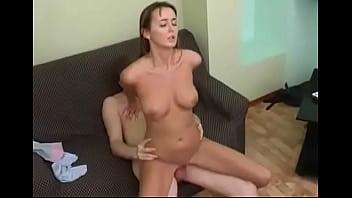 Youperv.com Hot russian brunette gets creampied