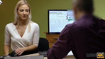 LOAN4K. Dude helps a blonde girl when she needs extra cash for a car