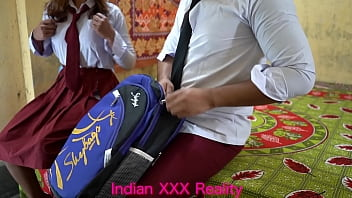 Indian best ever college girl and college boy fuck in clear hindi voice