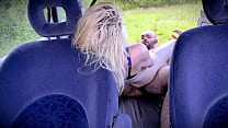 OUTDOOR PUBLIC ANAL SEX WITH HOT BLONDE IN THE BACK OF THE CAR 2of2
