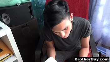 Brother and brother sex | pov gay blowjob & anal