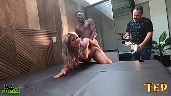Behind the scenes of the Venezuelan staring at the gifted black man - Katrine Sofia - Hygor Negrao