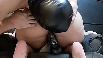 cuckold husband and his wife making love while stranger guy watches