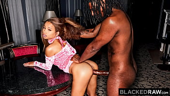 BLACKEDRAW Sexy Cecilia hooks up with smooth talking Sly