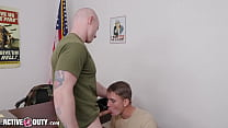 Late Recruit Must Appease Major's Hungry Cock - ActiveDuty