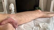 A lot of semen during ejaculation on depilation