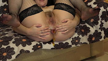 Unusual anal masturbation prolapse and ass gaping The brunette squeezes out jelly candies from her anus and fucks the butt with a dildo Home fetish
