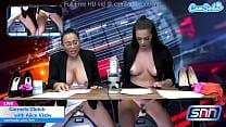 Hot body news anchors masturbate on air