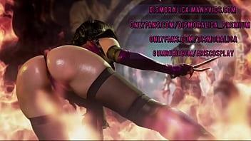 Street Fighter Cammy si distrugge il culo fino al prolasso e squirta in cosplay porno