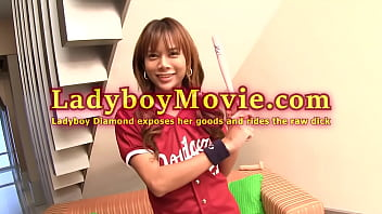 Ladyboy Diamond Shows Her Goods And Rides Raw Dick