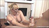 Busty Blonde Gets A Semen Shower